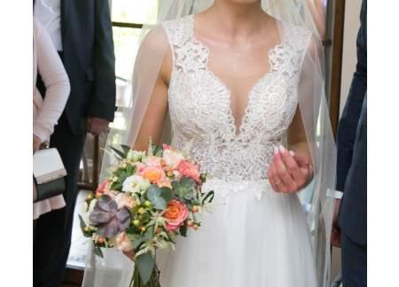 Suknia Ślubna Jak Nowa roz. 36 +WELON GRATIS