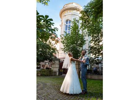 Suknia ślubna - kolor ivory, kształt litery A