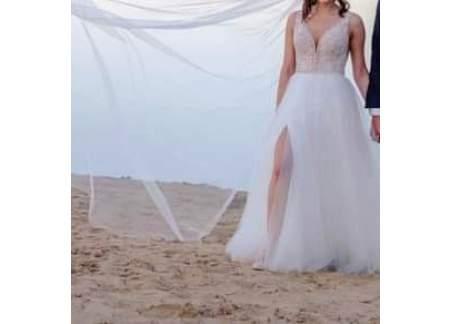 Suknia ślubna rozm 38 kolor ivory