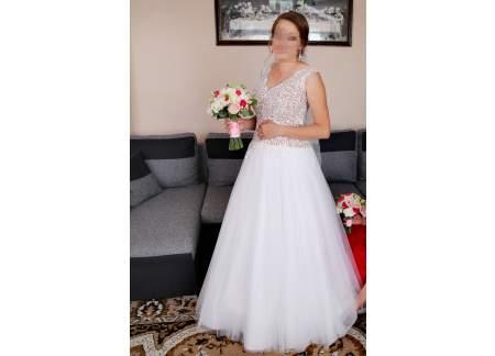 Suknia ślubna Sara 38-40 większy biust