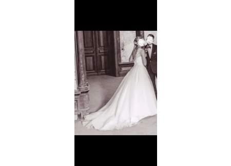 Suknia ślubna Classa C-1057 34/36 ivory+welon.