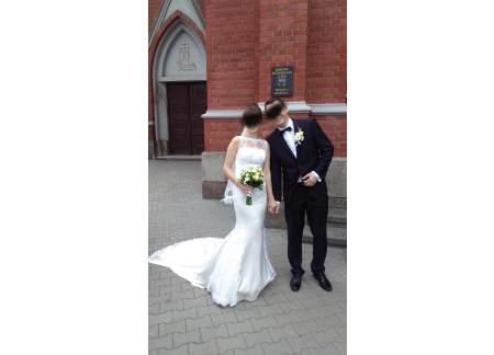 Suknia La sposa Roble przepiękna, bajeczny tren