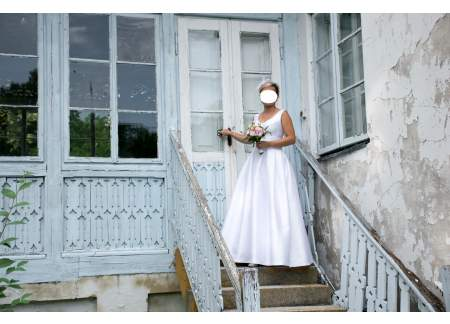 delikatna i elegancka suknia śluba