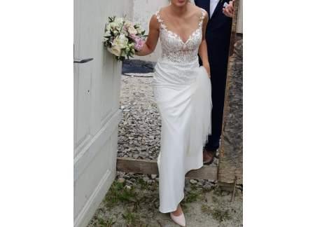 Suknia ślubna ANAIS mistreli kolor milk rozm. S 169cm + 7 cm obcas