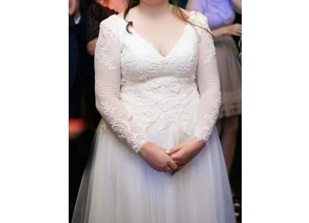 Suknia ślubna Gala Oriana Ivory (rozmiar 40, L)