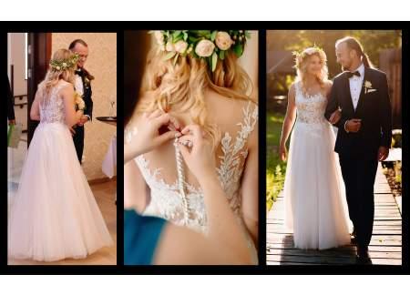 Suknia ślubna-zwiewna, kobieca