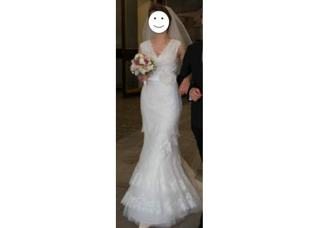 Suknia ślubna koronkowa Cymbeline Fatima, używana