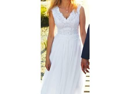 Klasyczna biała suknia