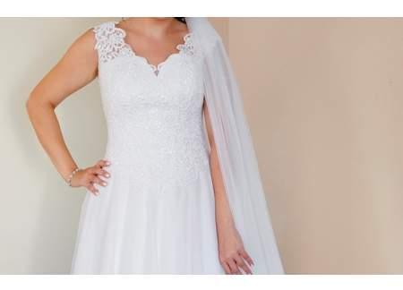 Biała suknia ślubna La Paris kształt A