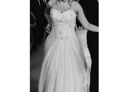 Suknia ślubna rozmiar 38-42 z koronkowym regulowanym gorsetem Evfashion Izar