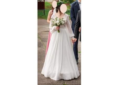 Suknia ślubna BOHO Sheyla (rozm. 38, śmietanka)