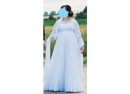 Suknia ślubna ciążowa + dodatki