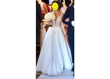 Suknia ślubna projektu P. Pardyki (styl glamour)