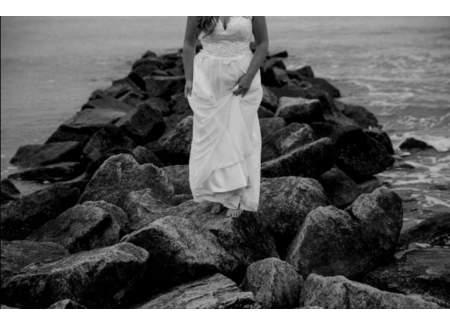 Suknia ślubna muślin 42